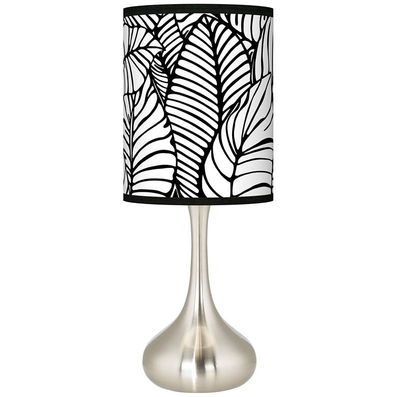 Tropical Leaves Giclee Droplet Table Lamp