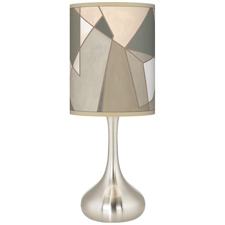 Modern Mosaic I Giclee Droplet Table Lamp