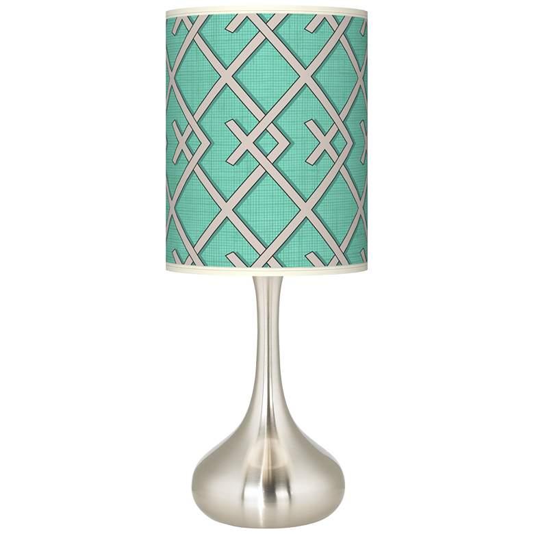 Crossings Giclee Droplet Table Lamp