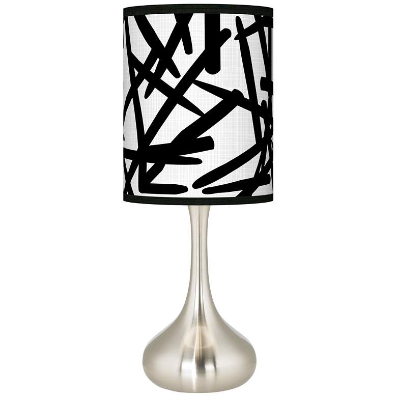 Sketchy Giclee Droplet Table Lamp
