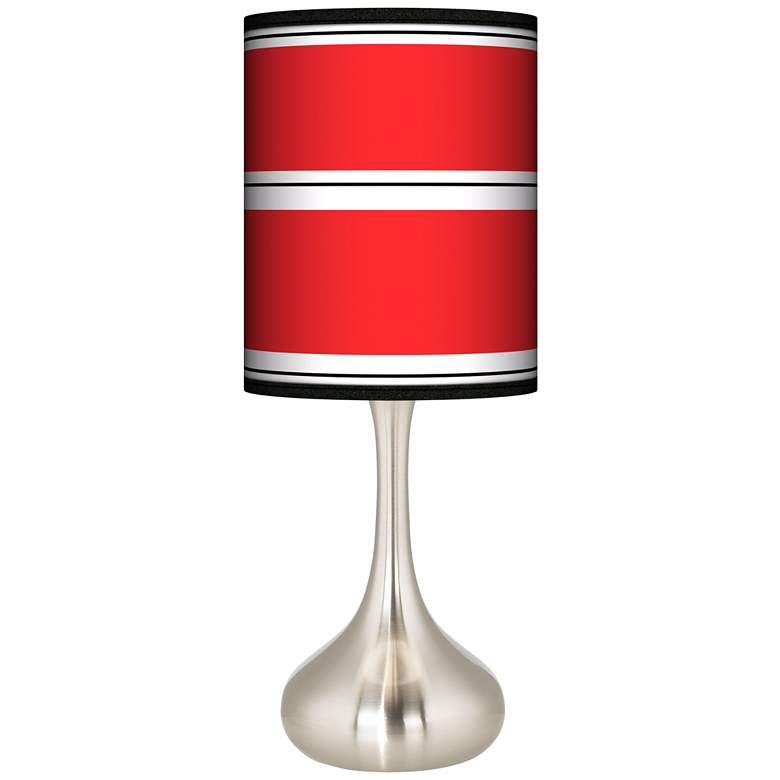 Red Stripes Giclee Droplet Table Lamp