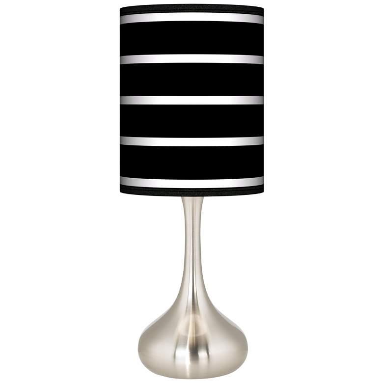 Bold Black Stripe Giclee Droplet Table Lamp