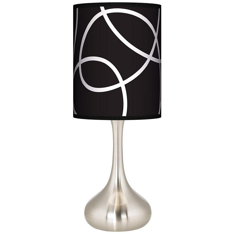 Abstract Giclee Droplet Table Lamp