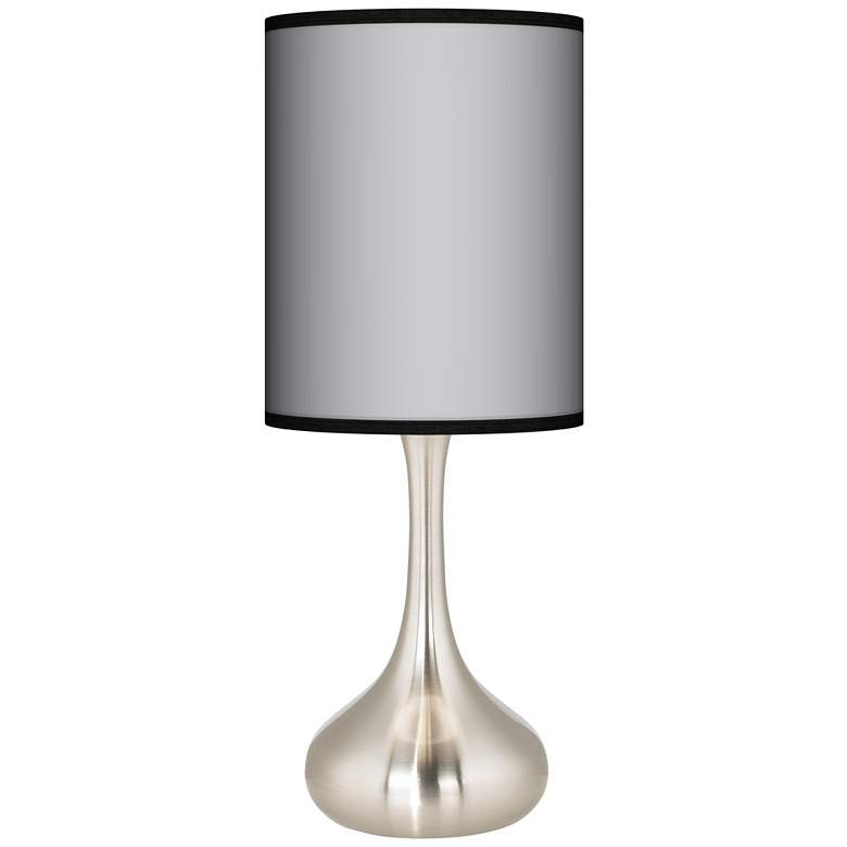 All Silver Giclee Droplet Table Lamp