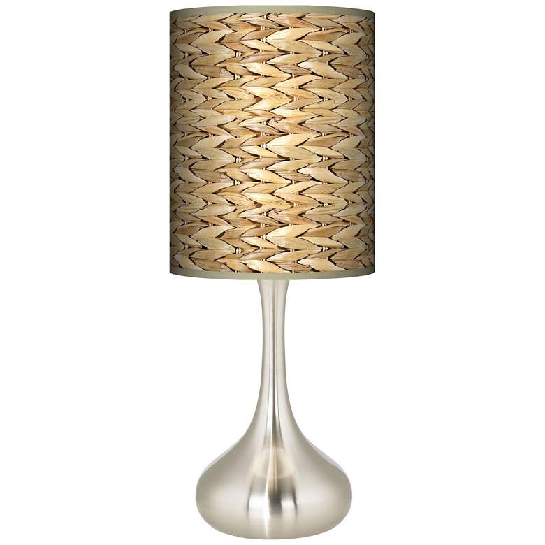 Seagrass Print Pattern Giclee Droplet Table Lamp