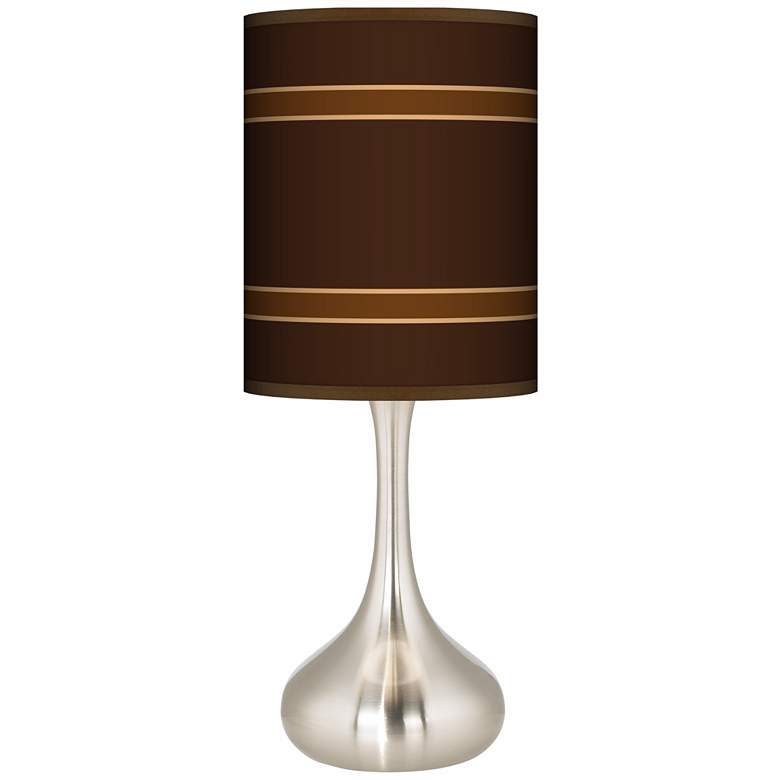 Saratoga Stripe Giclee Droplet Table Lamp