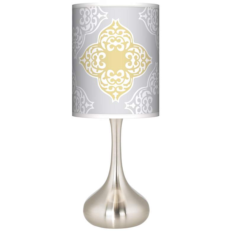 Aster Grey Giclee Droplet Table Lamp