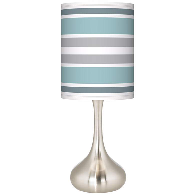 Multi Color Stripes Giclee Droplet Table Lamp
