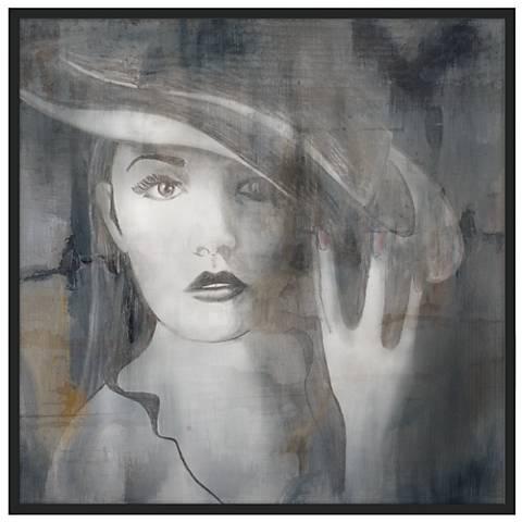 "Sophistication 37""x37"" Wall Art in Black Frame"