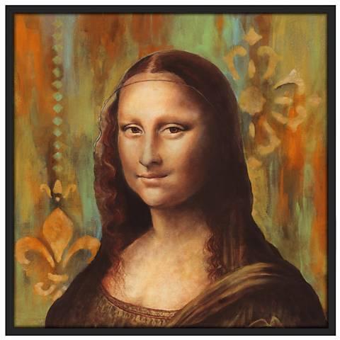 "Florentine 37"" Square Black Giclee Wall Art"