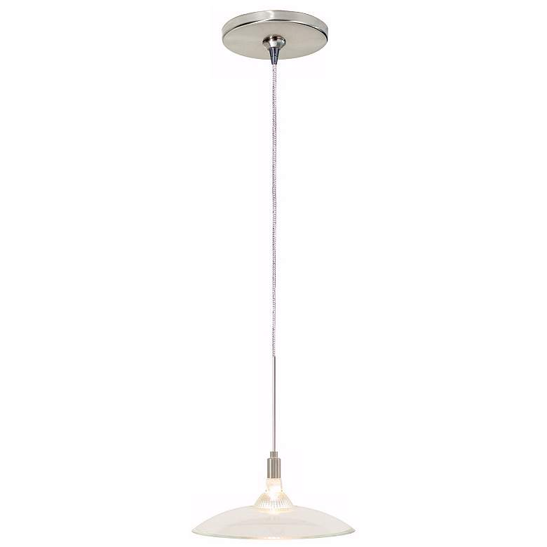 Diz Clear Glass Satin Nickel Tech Lighting Mini Pendant