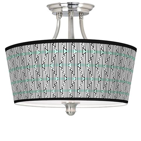 Indigenous Tapered Drum Giclee Ceiling Light