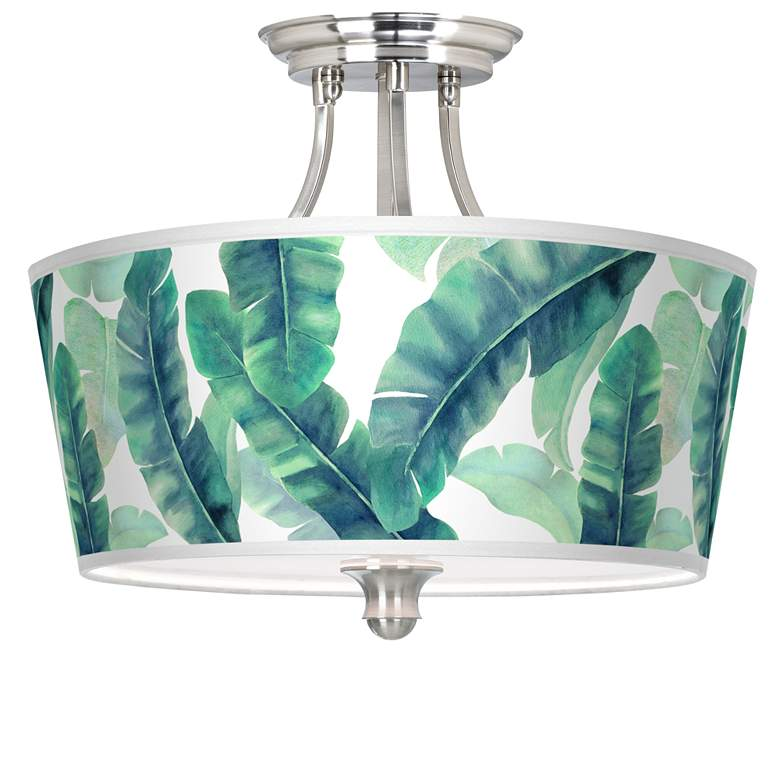 Guinea Tapered Drum Giclee Ceiling Light