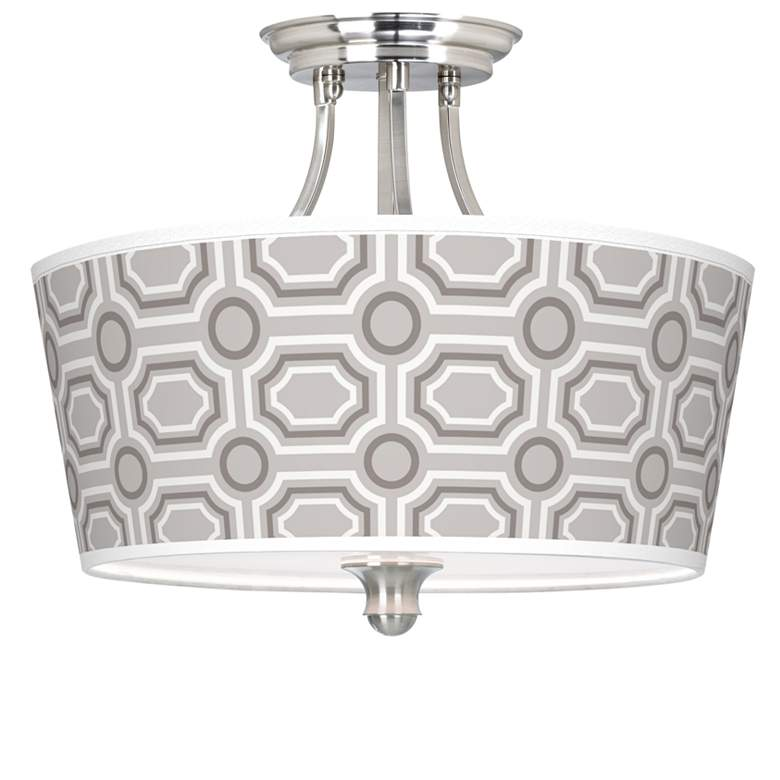 Luxe Tile Tapered Drum Giclee Ceiling Light