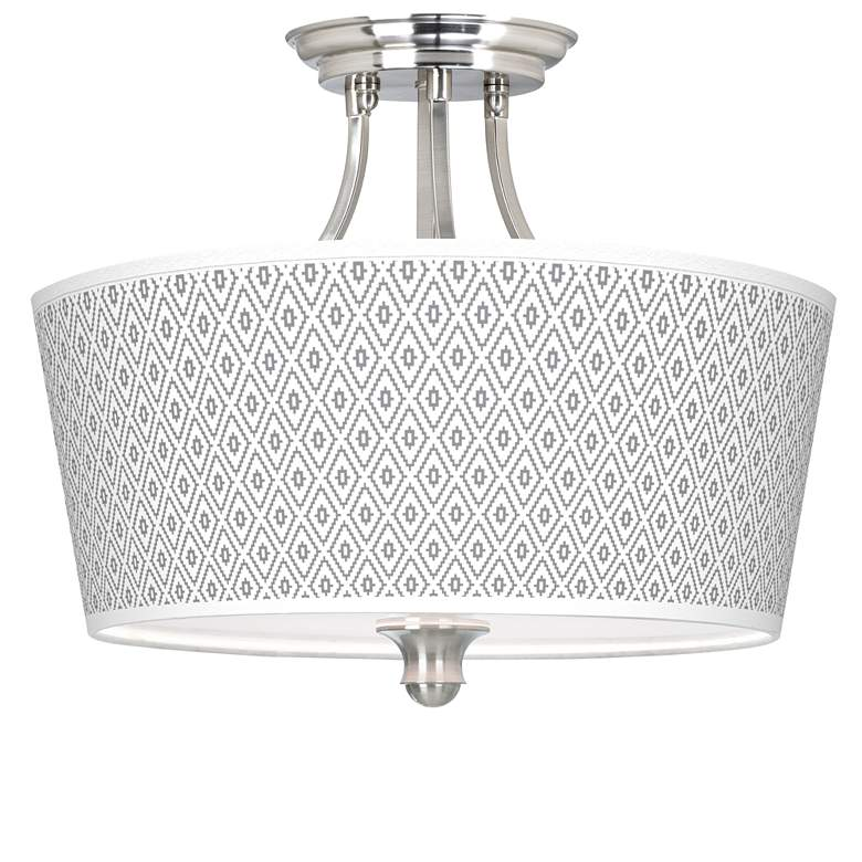 Diamonds Tapered Drum Giclee Ceiling Light