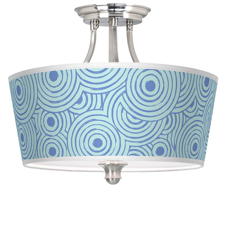 Circle Daze Tapered Drum Giclee Ceiling Light