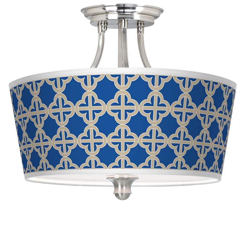 Four Corners Tapered Drum Giclee Ceiling Light