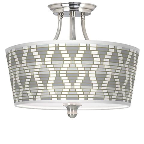 Stepping Out Tapered Drum Giclee Ceiling Light