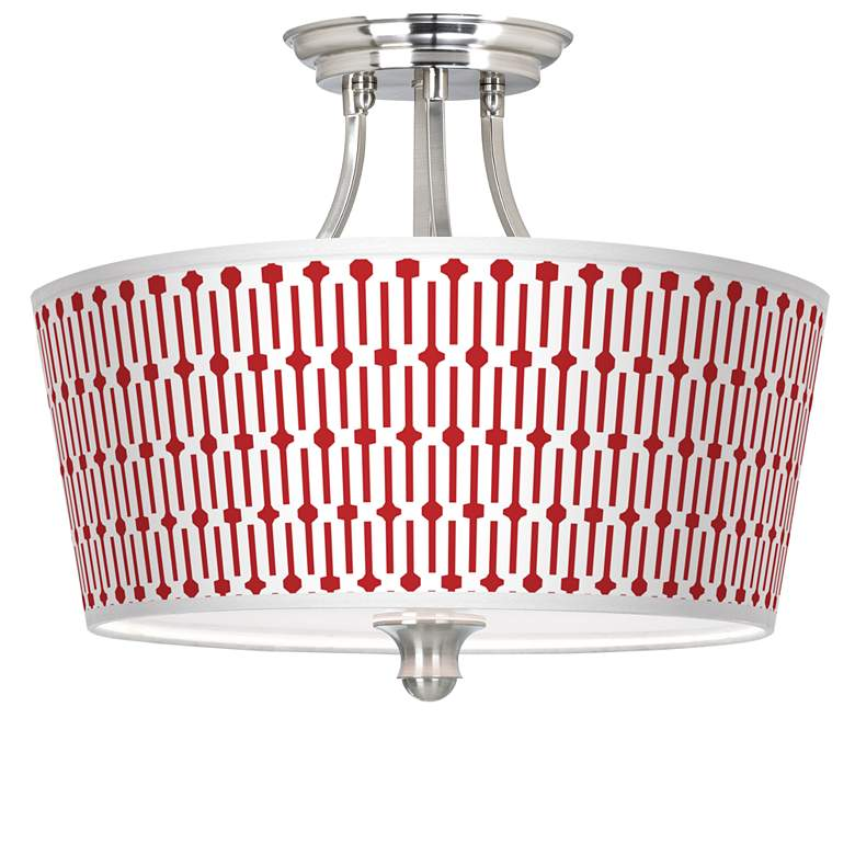 Amaze Tapered Drum Giclee Ceiling Light