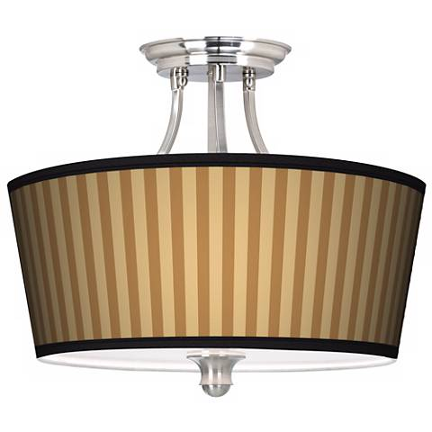 Butterscotch Vertical Tapered Drum Giclee Ceiling Light