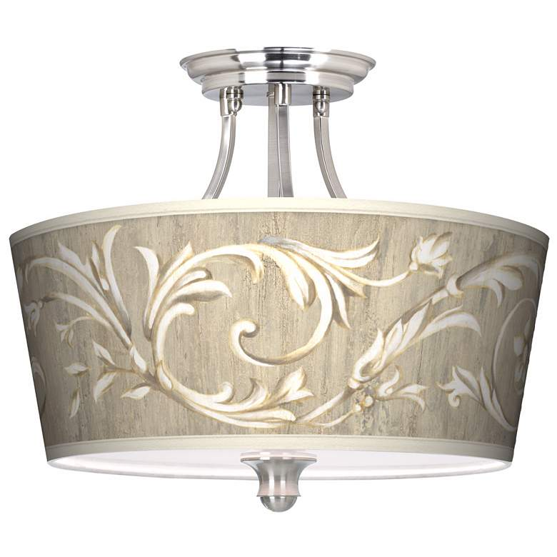 "Laurel Court Tapered Drum Shade 18"" Wide Ceiling"