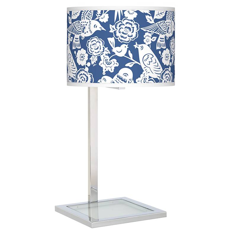 Aviary Glass Inset Table Lamp