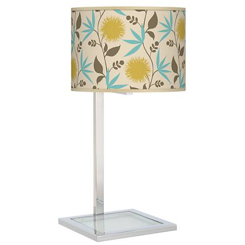 Dahlia Glass Inset Table Lamp