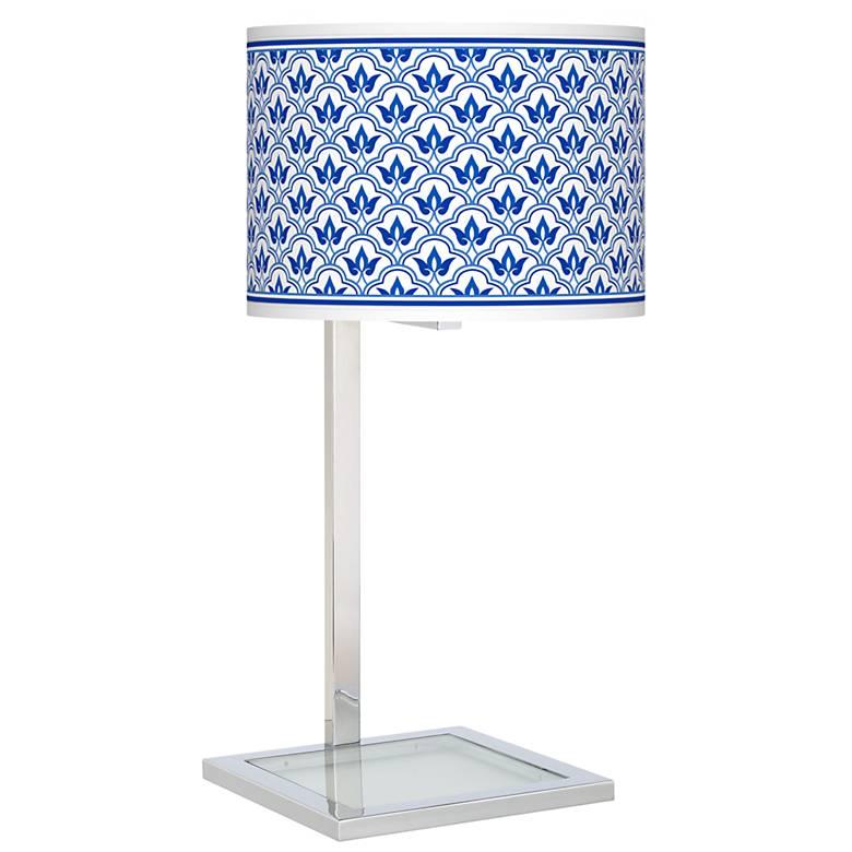 Arabella Glass Inset Table Lamp