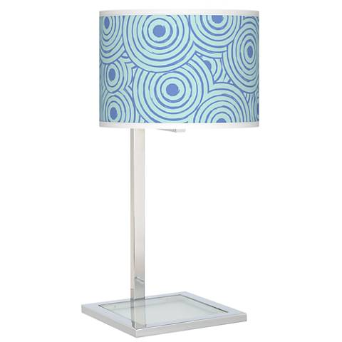 Circle Daze Glass Inset Table Lamp