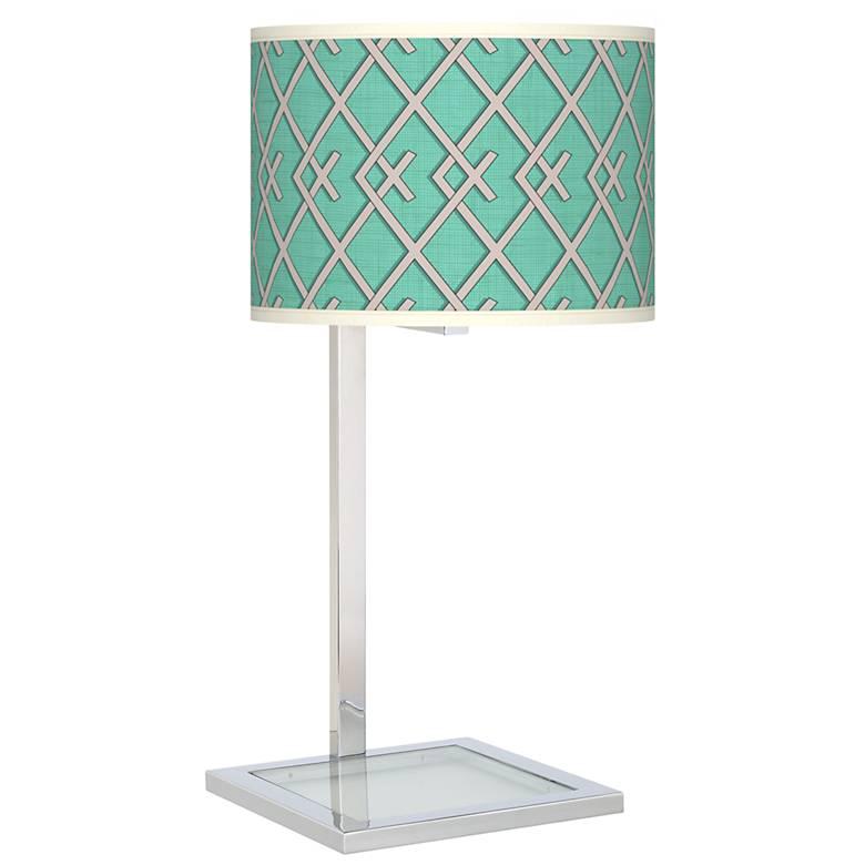 Crossings Glass Inset Table Lamp
