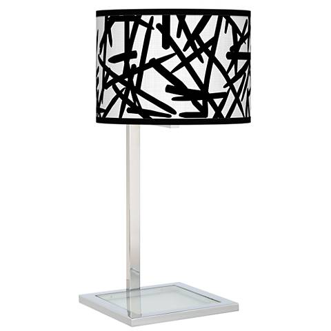 Sketchy Glass Inset Table Lamp