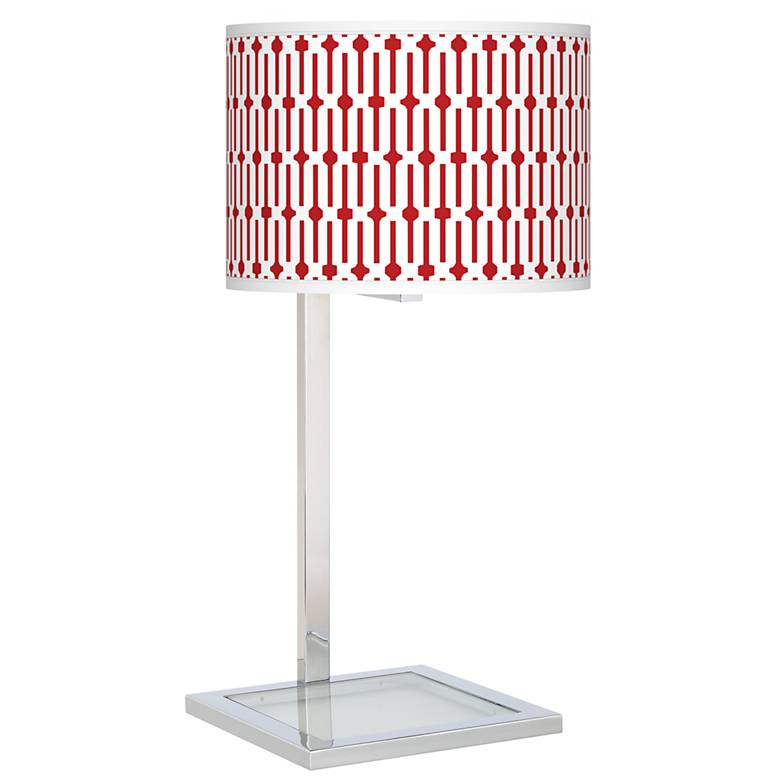 Amaze Glass Inset Table Lamp