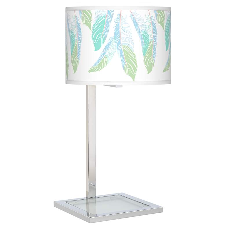 Light as a Feather Glass Inset Table Lamp