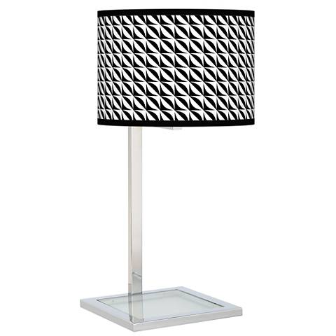 Waves Glass Inset Table Lamp
