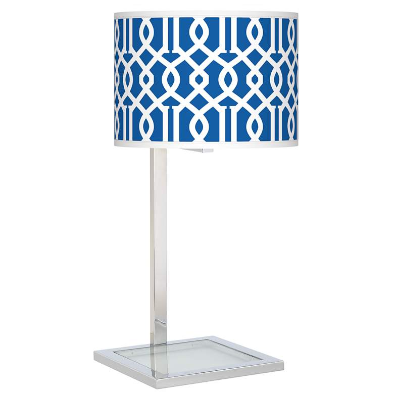 Chain Reaction Glass Inset Table Lamp