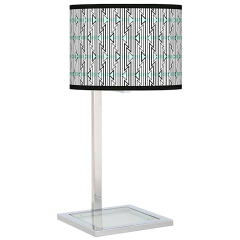 Indigenous Glass Inset Table Lamp