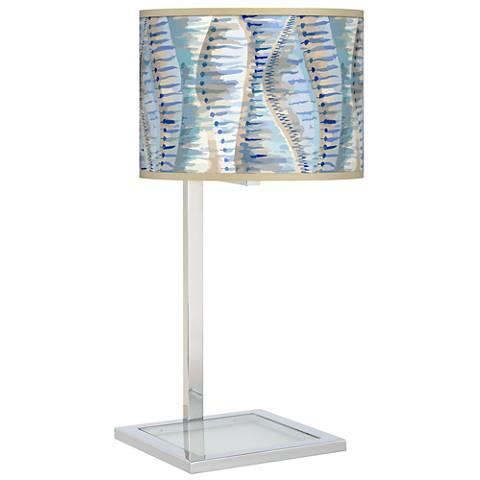 Siren Glass Inset Table Lamp