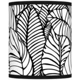 Tropical Leaves Giclee Shade 10x10x12 (Spider)