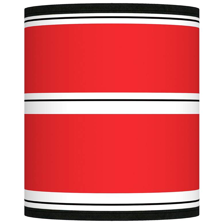 Red Stripes Giclee Shade 10x10x12 (Spider)