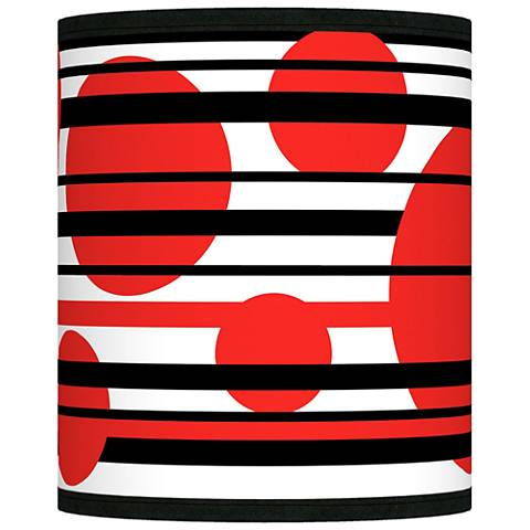Red Balls Giclee Shade 10x10x12 (Spider)