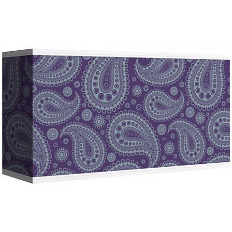 Purple Paisley Linen Giclee Shade 8/17x8/17x10 (Spider)