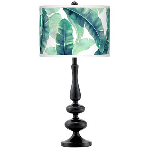 Guinea Giclee Paley Black Table Lamp