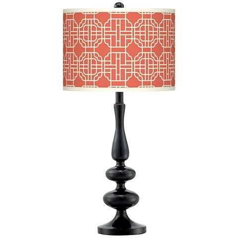 Mandarin Giclee Paley Black Table Lamp