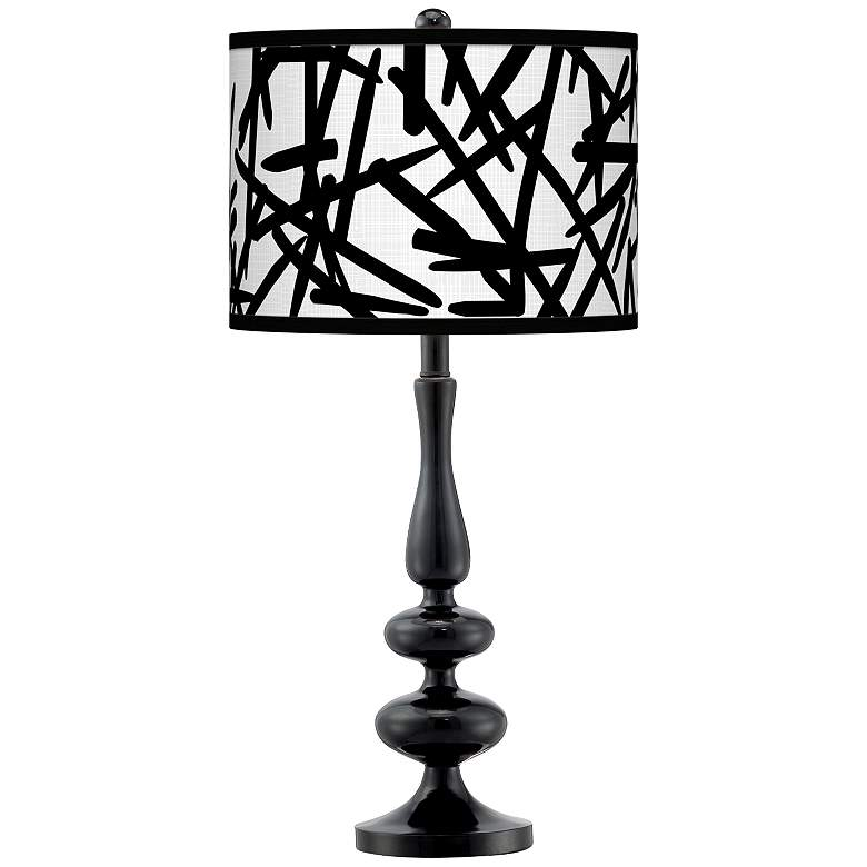 Sketchy Giclee Paley Black Table Lamp