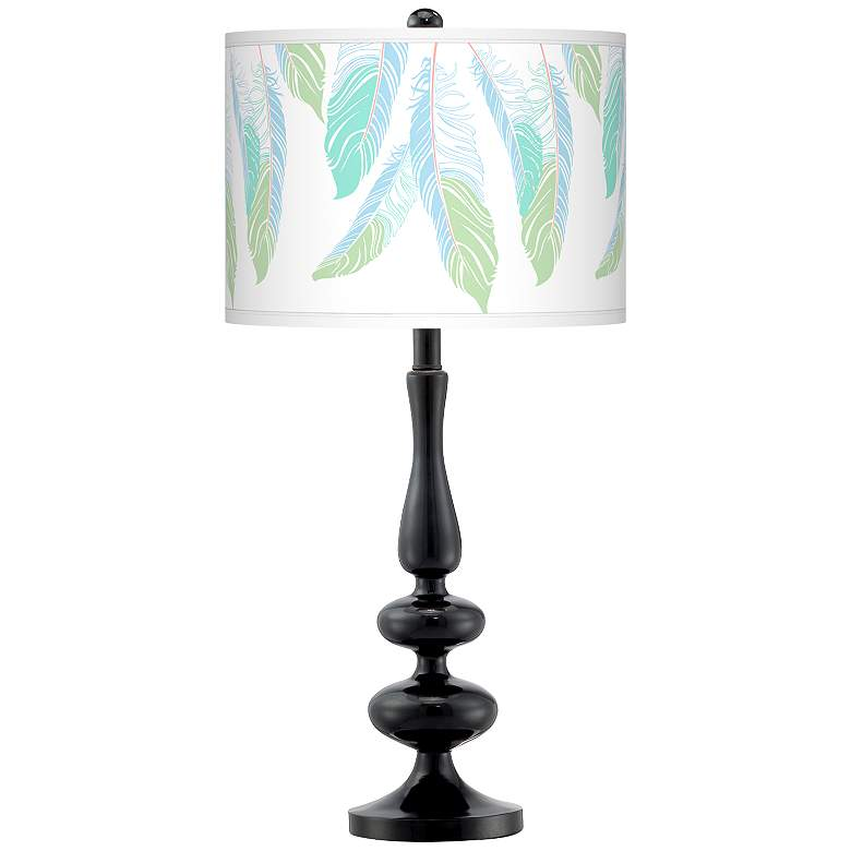 Light as a Feather Giclee Paley Black Table