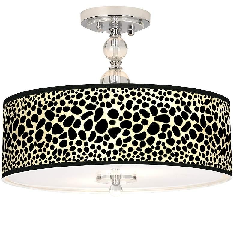 "Leopard Giclee 16"" Wide Semi-Flush Ceiling Light"