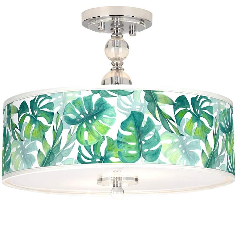 "Tropica Giclee 16"" Wide Semi-Flush Ceiling Light"