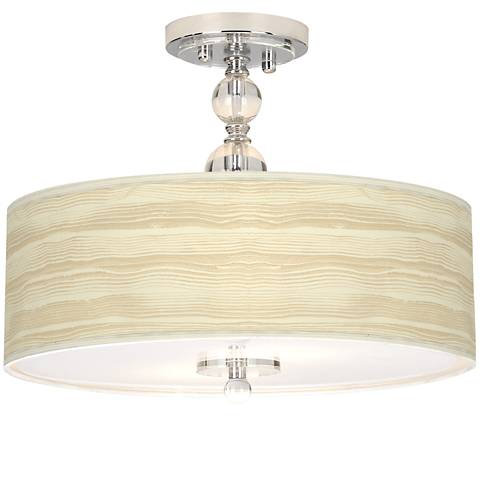 "Birch Blonde Giclee 16"" Wide Semi-Flush Ceiling Light"