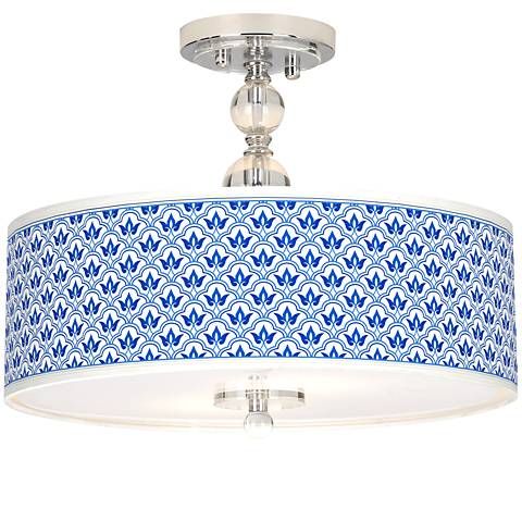 """Arabella Giclee 16"""" Wide Semi-Flush Ceiling Light"""
