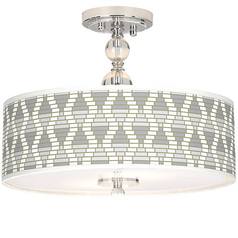 "Stepping Out Giclee 16"" Wide Semi-Flush Ceiling Light"